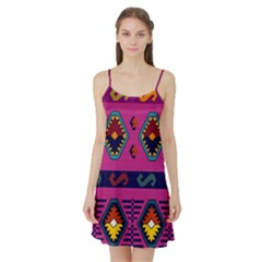 Abstract A Colorful Modern Illustration Satin Night Slip