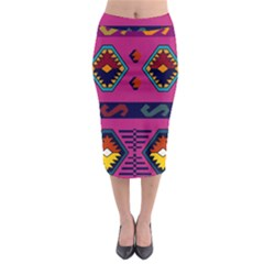 Abstract A Colorful Modern Illustration Midi Pencil Skirt