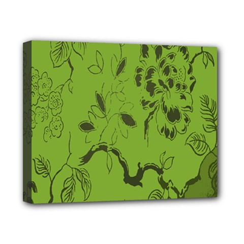 Abstract Green Background Natural Motive Canvas 10  x 8