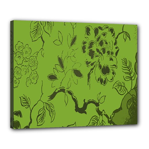 Abstract Green Background Natural Motive Canvas 20  X 16