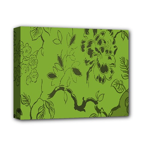 Abstract Green Background Natural Motive Deluxe Canvas 14  x 11