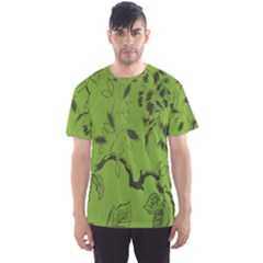 Abstract Green Background Natural Motive Men s Sport Mesh Tee