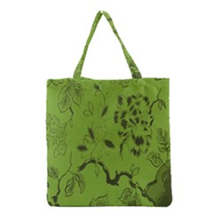 Abstract Green Background Natural Motive Grocery Tote Bag