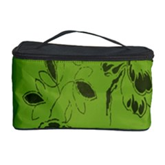 Abstract Green Background Natural Motive Cosmetic Storage Case