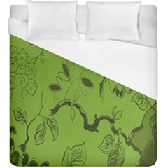 Abstract Green Background Natural Motive Duvet Cover (king Size)