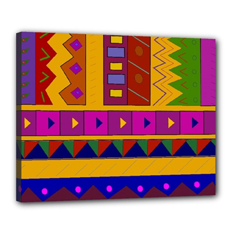 Abstract A Colorful Modern Illustration Canvas 20  X 16