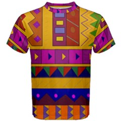 Abstract A Colorful Modern Illustration Men s Cotton Tee