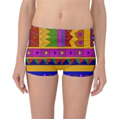 Abstract A Colorful Modern Illustration Reversible Bikini Bottoms