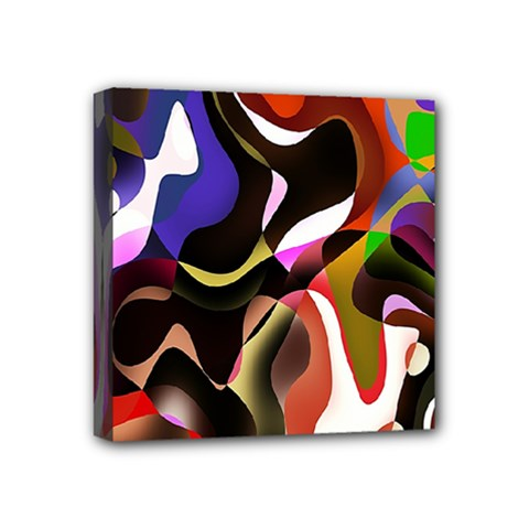 Colourful Abstract Background Design Mini Canvas 4  X 4