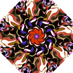 Colourful Abstract Background Design Hook Handle Umbrellas (Small)