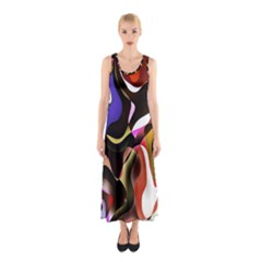 Colourful Abstract Background Design Sleeveless Maxi Dress
