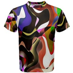 Colourful Abstract Background Design Men s Cotton Tee