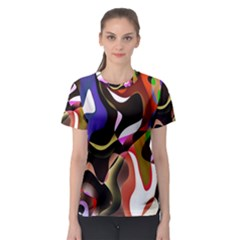 Colourful Abstract Background Design Women s Sport Mesh Tee