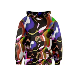 Colourful Abstract Background Design Kids  Pullover Hoodie