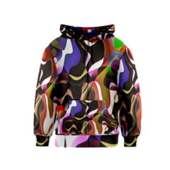 Colourful Abstract Background Design Kids  Zipper Hoodie