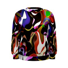 Colourful Abstract Background Design Women s Sweatshirt