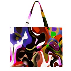 Colourful Abstract Background Design Large Tote Bag