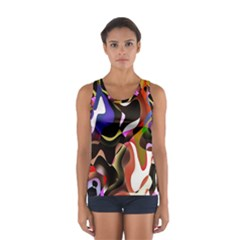 Colourful Abstract Background Design Women s Sport Tank Top
