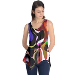 Colourful Abstract Background Design Sleeveless Tunic