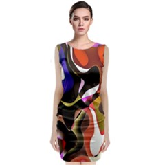 Colourful Abstract Background Design Classic Sleeveless Midi Dress