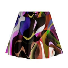 Colourful Abstract Background Design Mini Flare Skirt