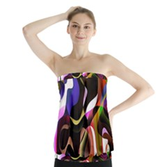 Colourful Abstract Background Design Strapless Top