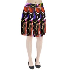 Colourful Abstract Background Design Pleated Skirt