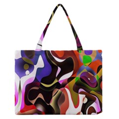 Colourful Abstract Background Design Medium Zipper Tote Bag