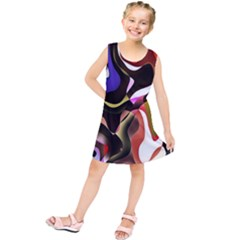 Colourful Abstract Background Design Kids  Tunic Dress