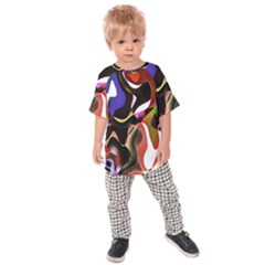 Colourful Abstract Background Design Kids  Raglan Tee