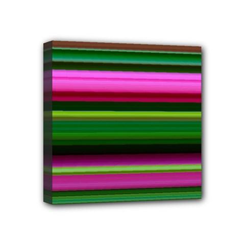 Multi Colored Stripes Background Wallpaper Mini Canvas 4  X 4