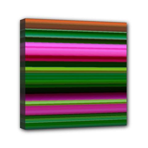 Multi Colored Stripes Background Wallpaper Mini Canvas 6  X 6