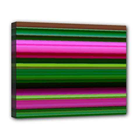 Multi Colored Stripes Background Wallpaper Deluxe Canvas 20  x 16