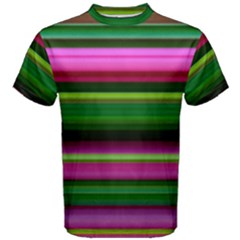 Multi Colored Stripes Background Wallpaper Men s Cotton Tee