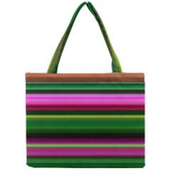 Multi Colored Stripes Background Wallpaper Mini Tote Bag