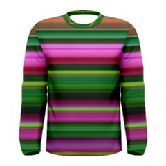 Multi Colored Stripes Background Wallpaper Men s Long Sleeve Tee