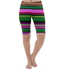 Multi Colored Stripes Background Wallpaper Cropped Leggings