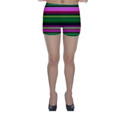 Multi Colored Stripes Background Wallpaper Skinny Shorts
