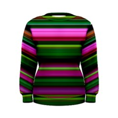 Multi Colored Stripes Background Wallpaper Women s Sweatshirt