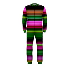 Multi Colored Stripes Background Wallpaper OnePiece Jumpsuit (Kids)