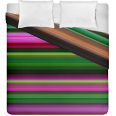 Multi Colored Stripes Background Wallpaper Duvet Cover Double Side (king Size)