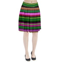 Multi Colored Stripes Background Wallpaper Pleated Skirt