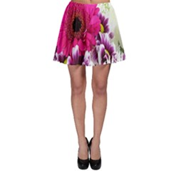 Pink Purple And White Flower Bouquet Skater Skirt