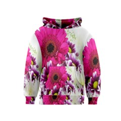 Pink Purple And White Flower Bouquet Kids  Pullover Hoodie