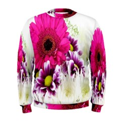 Pink Purple And White Flower Bouquet Men s Sweatshirt