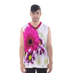 Pink Purple And White Flower Bouquet Men s Basketball Tank Top