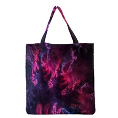 Abstract Fractal Background Wallpaper Grocery Tote Bag