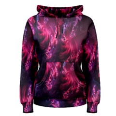Abstract Fractal Background Wallpaper Women s Pullover Hoodie