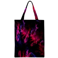 Abstract Fractal Background Wallpaper Zipper Classic Tote Bag