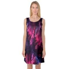 Abstract Fractal Background Wallpaper Sleeveless Satin Nightdress